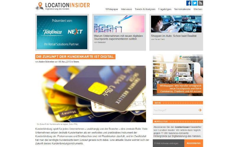 Kundenkarte wird digital