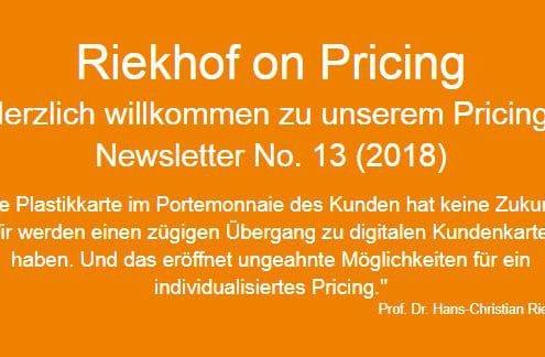 Kundenkarten Pricing-Newsletter