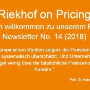 Preiskenntnis Pricing-Newsletter