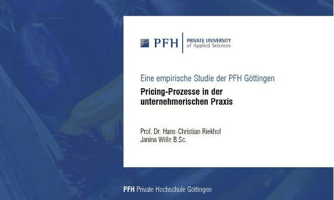 Pricing-Studie 2018 Ergebnisse
