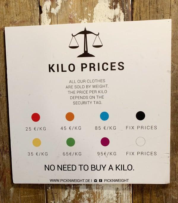 Kilo-Preis