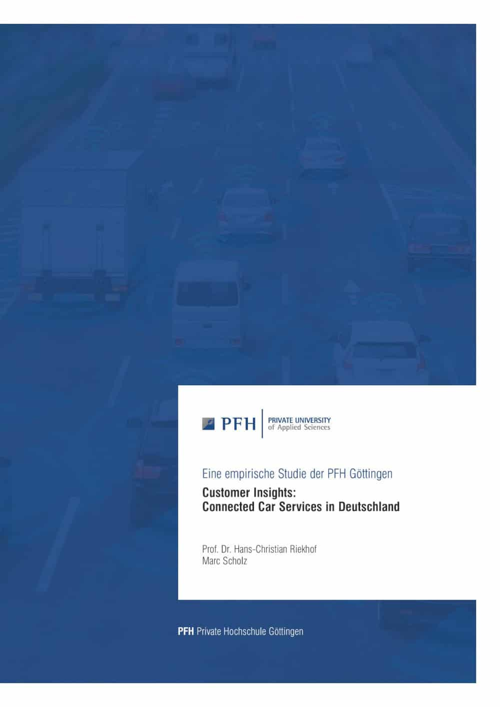 PFH Studie Connected Car Services Riekhof Scholz 2020