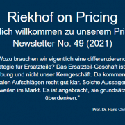 Pricing für Ersatzteile